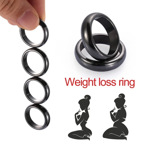 Jewelry - Unisex Black Ring Strong Magnetic Slimming Rings